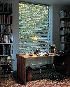 Hunter Douglas Silhouette/Pirouette Window Shades/Blinds in Office of West Palm Beach Florida Home