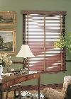 Horizontal Wood Blinds with decorative tapes-- Boynton Beach Residence