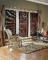 Hunter Douglas Wood Blinds With Decorative Tapes and Drapes-- Jupiter Florida Residence