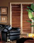 Hunter Douglas Horizontal Wood Blinds in Delray Beach home