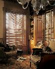 Hunter Douglas Horizontal Wood Blinds in Den -Jupiter Florida-