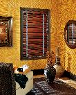 Mahogany Horizontal Wood Blinds in Jupiter Florida Home