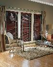 Lake Worth -- Horizontal Wood Blinds with green and decorative tapes