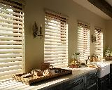 Hunter Douglas Silhouette PowerView Motorized Remote Control Shades In Lake Worth Kitchen -- Florida