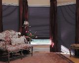 Duette Opaque Window Blinds/Shades with Panel Curtains In Beach Apartment