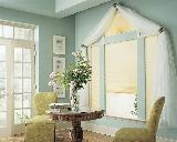 Duette Window Shade/Blind With Eyebrow Arch Fan Honeycomb-- North Beach Residence In Florida