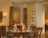 Duette Shade/Blind With Curtains on Rod In A Dining Room In Delray Beach