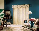VinylVertical Blinds With Valance Together With Cornice In Singer Island Living Room