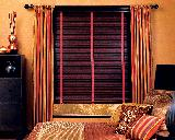 Wood Blinds With Tapes and Curtains as Well-- Juno Beach Florida Home