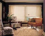 Hunter Douglas Duette Window Shades/Blinds With Sheers-- North Beach Living Room