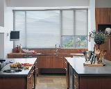 Hunter Douglas Silhouette PowerView Motorized Window Shades/Blinds -- Gorgeous Modern Kitchen Jupiter Florida Oceanfront Home