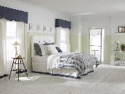 Custom-made cornices and coordinated bedding-- Lake Worth Florida