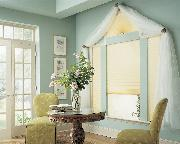 Pleated Shades/blinds with arch treatment -- Boca Raton Florida