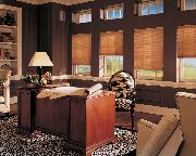 Traditional styled office overlooking golf course with Pleated Shades/blinds-- Palm Beach gardens Florida