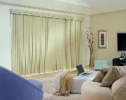Room Darkening Vinyl Sliding Glass Door Verticals/Vertical Blinds in this Greenacres Florida Contemporary Bedroom