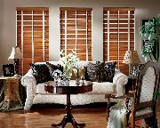 Boynton  Beach --Horizontal Wood Blinds with tapes in living room