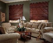 Dark Horizontal Wood Blinds--West Palm Beach
