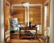 Horizontal Wood Blinds in Artists Room-- Delray Beach Florida