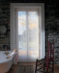 Sliding Glass Door Luminette Shades/Blinds in bathroom -- Lake Worth Florida