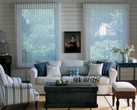 Outside mounted luminette shades/blinds for this living room in Jupiter Florida