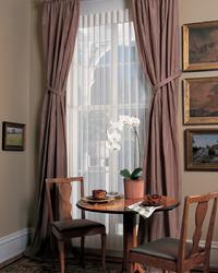 Sliding Glass Door luminette shades with drapery panels -- Hypoluxo Florida