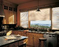 Beautiful kitchen in S. Palm Beach --Pirouette Window Shadings Hunter Douglas