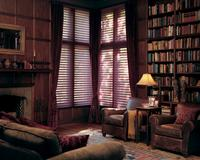 Hunter Douglas Silhouette Shades in library of Jupiter Florida Home