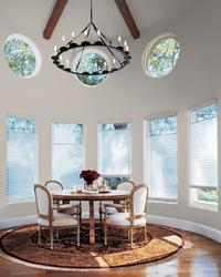 Hunter Douglas Silhouette -- Top-down bottom-up version in circle room with multiple Bay Windows -- Boca Raton Florida