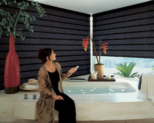Remote Control Automated Electric Window Shadings-- Motorized Hard Wire and Battery Operated -- West Palm Beach Florida