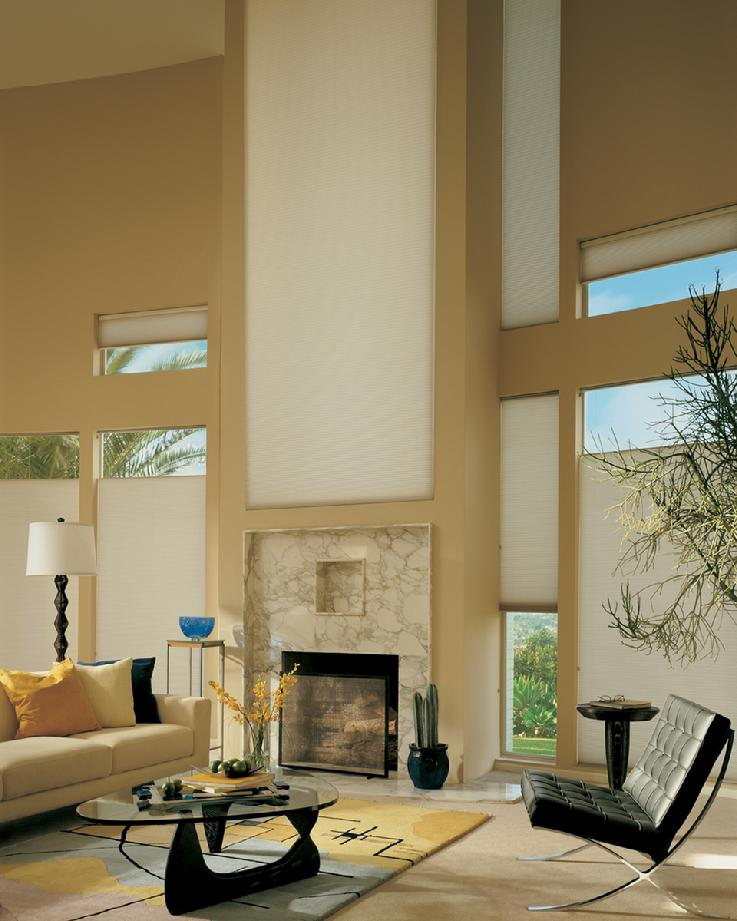 Hunter Douglas Duette Honeycomb Cellular Shades/Blinds -- Delray Beach Townhouse